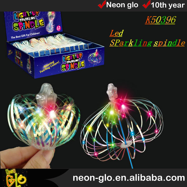 LED sparkling spindle,multi color spindle best gift for haloween