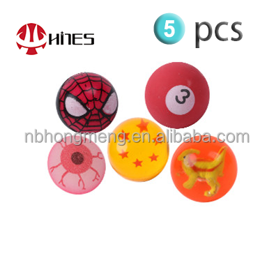 5 PCS Novelty Flashing Star/Spiderman/Lucky dog/Glow eyes/Number Rubber Bouncing Balls
