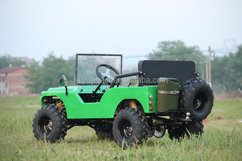 Hot sell 110cc Air-cooled 2seat Petrol Mini Jeep Willys 4x4 for adults