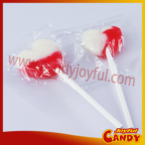 Strawberry Flavored Lollipop Heart Candies
