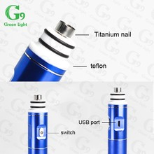 Authentic g9 enail greenlightvapes 2500mAh enail dab for cbd concentrates portable dab rig enail