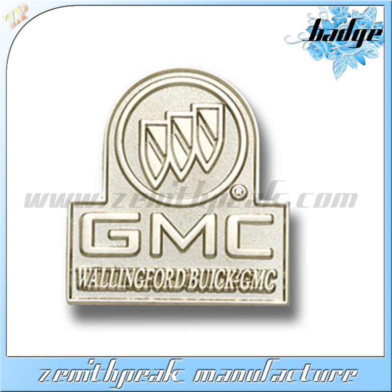 Silver metal safety pin 3d pin art free sample metal lapel pin