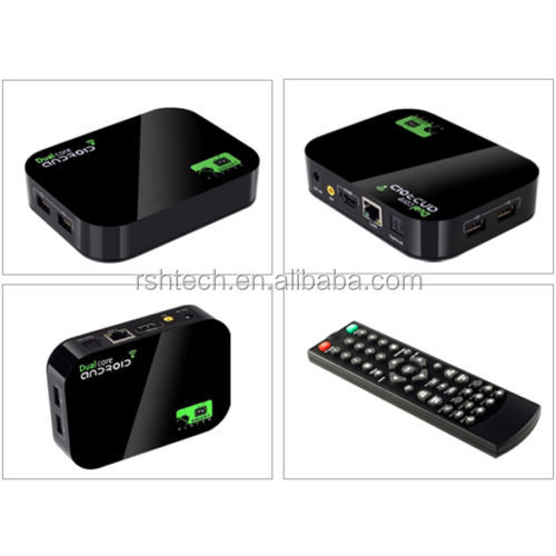 Dual core android 4.2 smart tv box ,excellent pre-installed xbmc,supports skype webcam chat