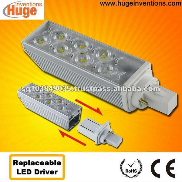G24 6w led lamp with high power factor & replaceable led driver