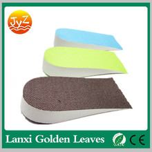 Best sale EVA hard-wearing height increase half pad insoles for all kind shoes