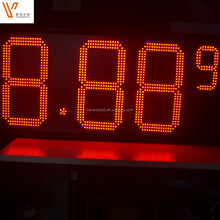 outdoor 7 segment red led 16 inch led petrol station pricing display