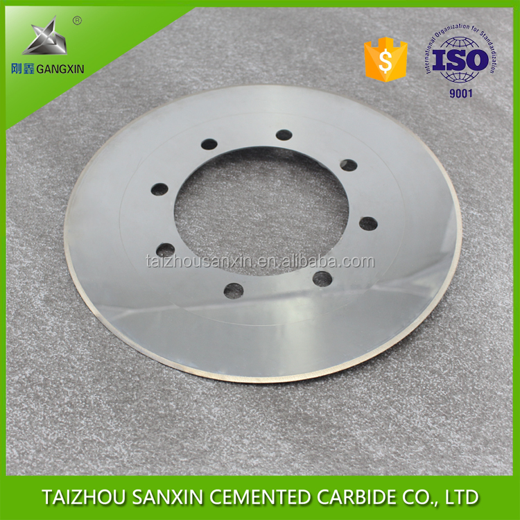 supply YG15/K20 knife slitting knife carbide circular cutter blade grinding disc for corrugated paper tungsten carbide knife