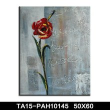 Abstract Modern Famous Romatic Flower Paintings Rose nfl Canvas Oil Painting