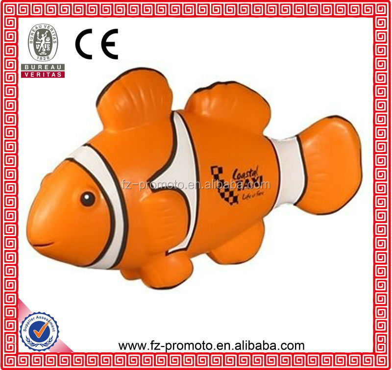 many styles stress fish clown fish shape PU foam balls anti stress ball