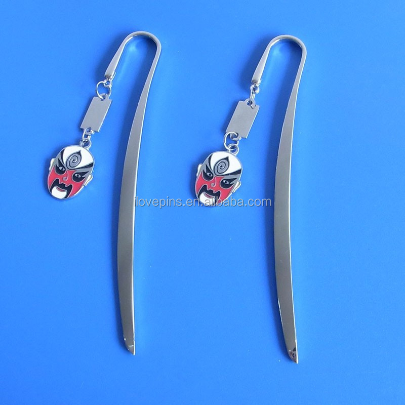 Beijing Opera Facial Masks metal bookmarkers, China character travel souvenir gifts