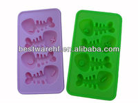 Food grade fish shaped silicone ice tray