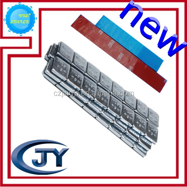 New type zinc coated Fe adhesive wheel balance weights with wider liner