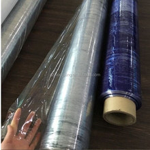 China Factory roll Soft blue and white color transparent pvc stretch film pvc plastic film for packing Mattress furniture