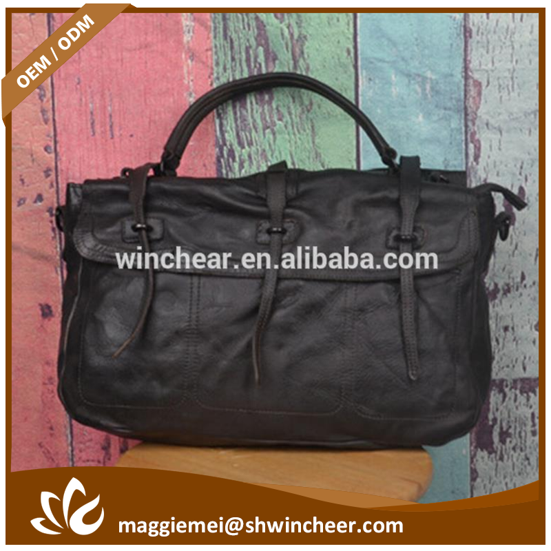 High-capacity black and brown genuine replica bags women factory pu leather handbag in china
