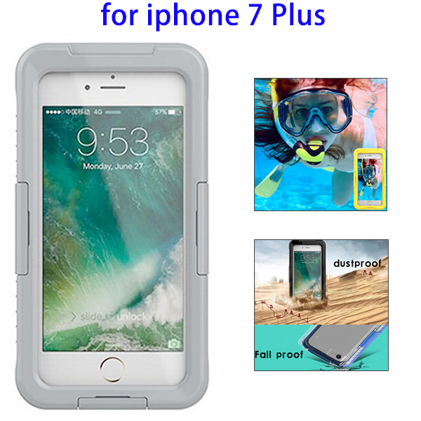 Mobile Phone Accessory IPX8 Waterproof Silicone Cover Case for iPhone 7 Plus