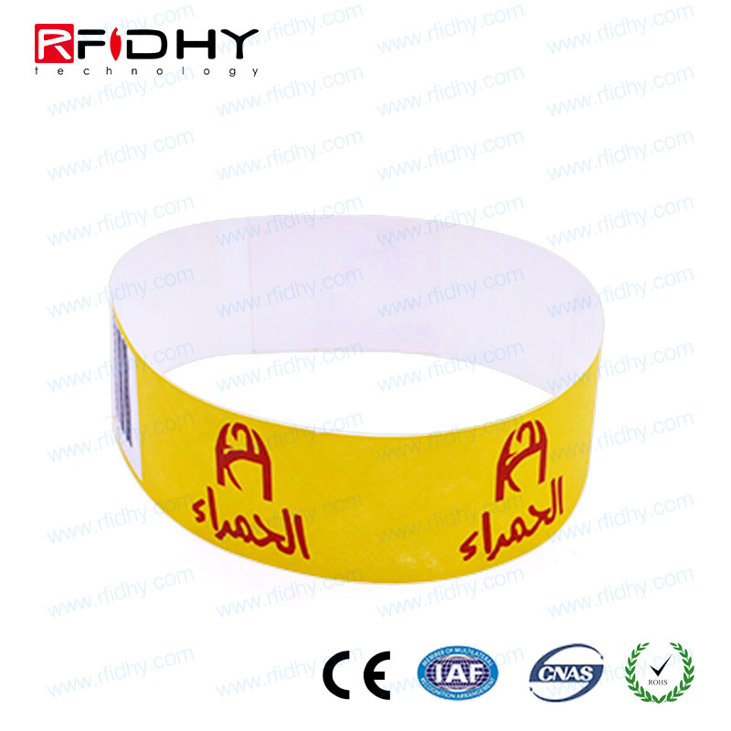 ISO14443A disposable 13.56mhz dupont paper self adhesive pulsera rfid