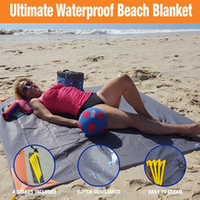 Carries All-Purpose Outdoor Blanket Camping Picnic Rug Beach Mat