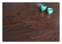 black color engineered walnut waxed laminate flooring