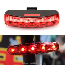 Cycling Bike 5 LED Red Rear Tail Back Big Eyes Flashing Warning Lamp Light