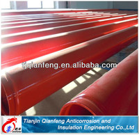 red plastic coated fire fighting anticorrosion steel pipe
