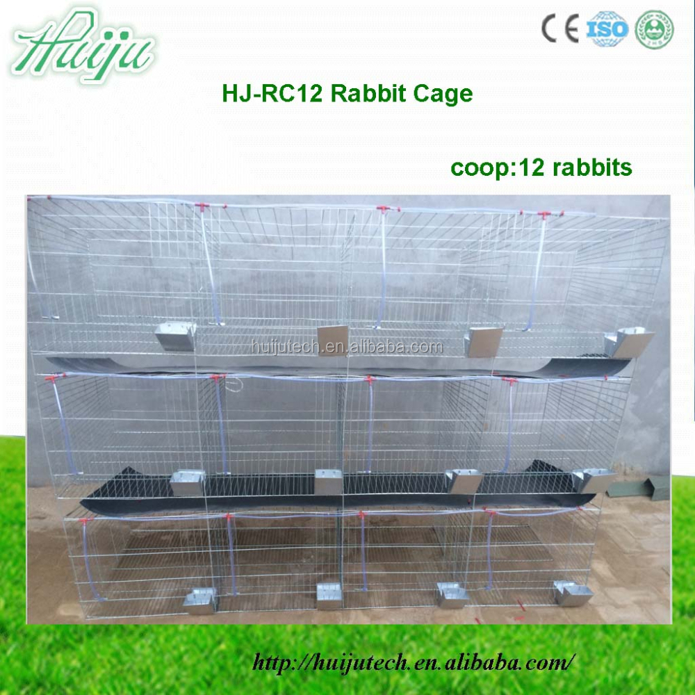 hot sell 12 pcs rabbit cage for sale