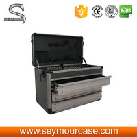Large Hard Aluminum Carry Case for Hand Tool Set