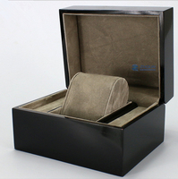Black single packaging wooden watch boxes with pillow