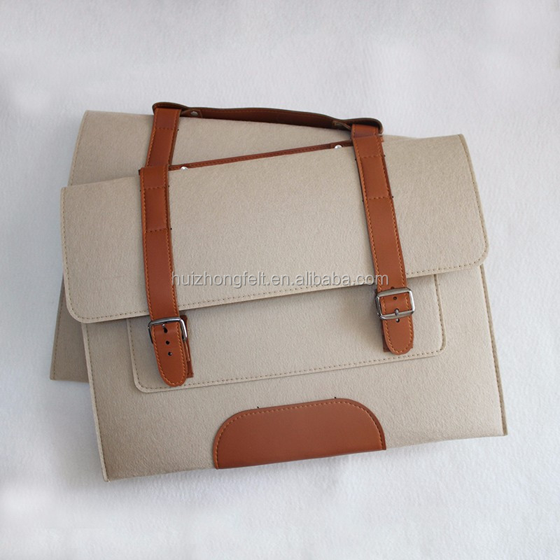 high quality felt office business bag
