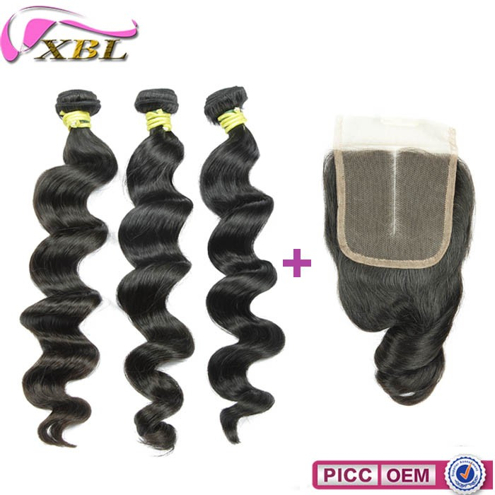 XBL unprocessed hot selling raw natural black cheap virgin malaysian hair