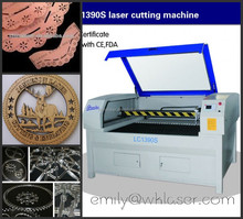 jinan CO2 150w leather laser cutting machine price 1390with honeycomb table