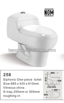 Cheap best selling Mexico Nom Standard One-piece toilet 258 stock