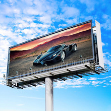 Outdoor Double Sided advertising unipole billboard