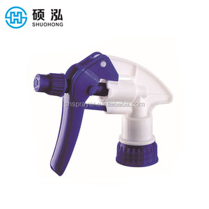 Hot sales free samples SH 28/400 plastic trigger sprayer pump for glass bottle cosmetic packaging
