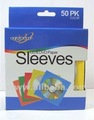 CD/DVD Sleeves Color 50PK