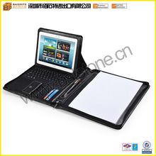 Tablet Padfolio Case With Bluetooth Keyboard and Angle Viewing