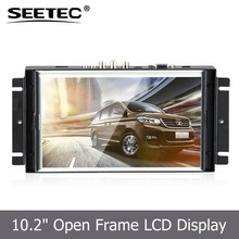 10.2 inch open frame widescreen tft lcd monitor with LED backlight HDMI DVI input resistive touchscreen