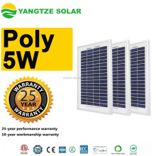 Yangtze solar power 5w polycrystalline solar panel