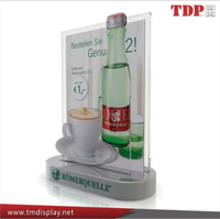 Wholesale OEM ODM Factory Transparent Menu Holder Table Tents with Aluminum Base Acrylic Sign Stand