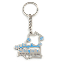 Custom metal enamel key chain with split key ring for promotion