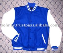 Blue and White Varsity Jacket Letterman Baseball Jacket