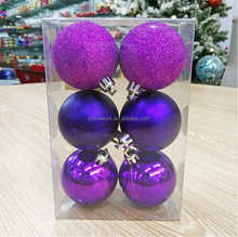 Christmas decorations factory direct 4cm plastic electroplating ball/painted Christmas balls stage decoration