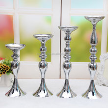 table decor silver tall candlestick holder