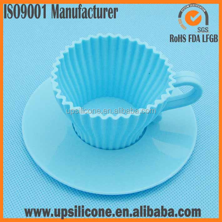 food grade low price silicone tea cupcake