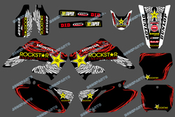 Cheap sticker FOR HONDA CR125 CR250 2002 2003 2004 2005 2006 2007 (DST0153)