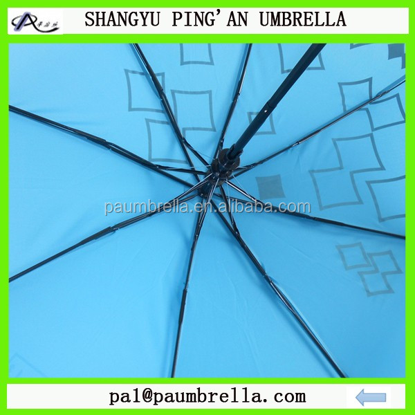 Customer made 3 folding auto open and close umbrella travel umbrella gift giveaway