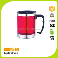 stainless steel beer mug with lid for promotion