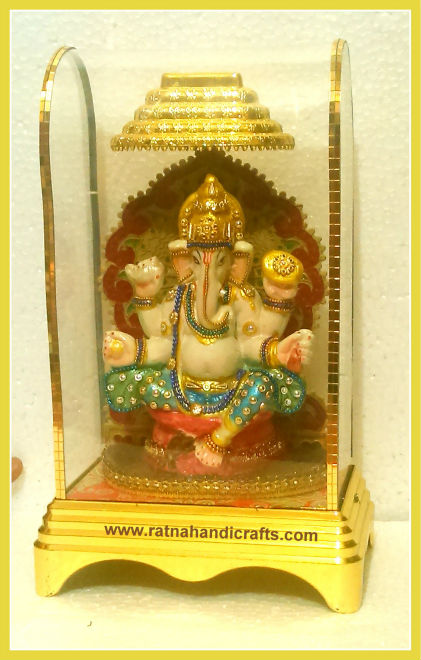Antique Look Finish Ganesh Statue Fiber Glass Casing
