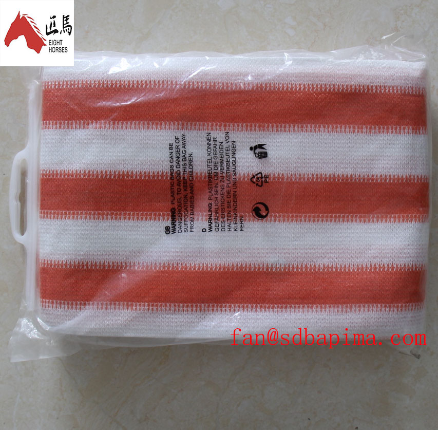 Binzhou PE Tape good price orange and white color balcony <strong>net</strong> for shade sail and shade <strong>net</strong>