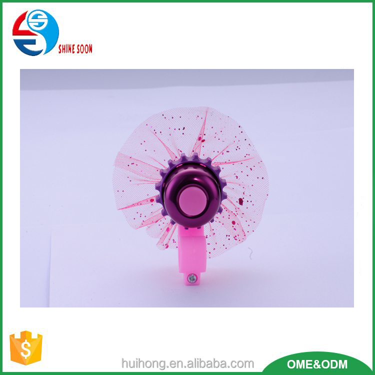 Bicycle Flower Shape Parts and Accessories, Alloy and plastic bicycle bell, mini bike bell for kids