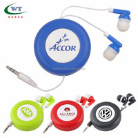 Promotional Mobile Ear Buds Retractable Ear Phone